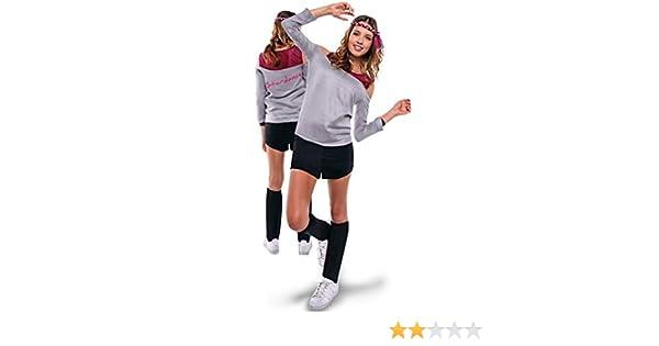 Disfraz de Aerobic ochentero gris para mujer: Amazon.es: Juguetes ...