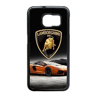 Samsung Galaxy S6 Edge Case , Lamborghini Cell Phone Case Black For Samsung  Galaxy S6 Edge