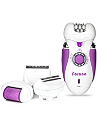 Epilator for Women, Foraco 4 in 1 Rechargeable Electric...