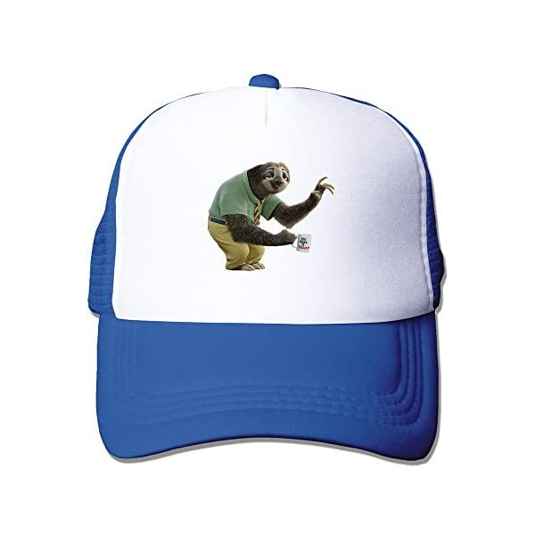 Personalized Zootopia Flash The Sloth Sun Hat Royalblue -