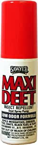 Sawyer Products SP718 Premium Maxi-DEET Insect Repellent, Pump Spray, 2-Ounce