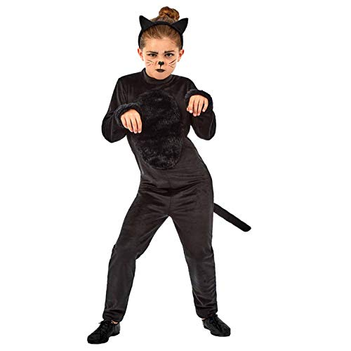 Childrens Black Cat Costume (Kids Black Cat Costume Childrens Cute Animal Dress Up Outfit -)