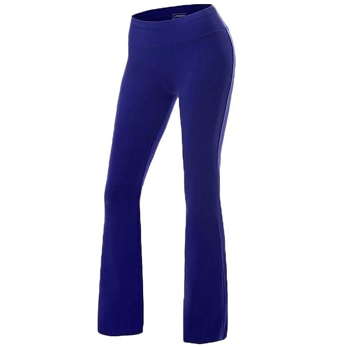 Fashionyoung Mujer Yoga Pantalones Pata Ancha Altos Fitness  Amazon.es  Ropa  y accesorios 33c4d984d71f