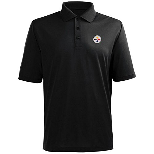 - Pittsburgh Steelers Adult Large Performance Short Sleeve Polo Shirt - Black