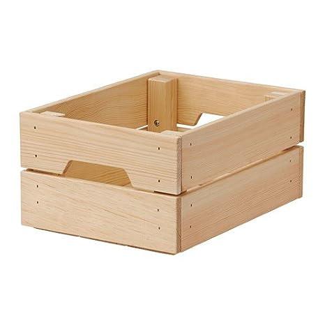 Ikea Knagglig - Caja (Madera de Pino Maciza, 23 x 31 x 15 cm
