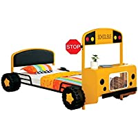 HOMES: Inside + Out ioHOMES Skoolie Bus Youth Bed, Twin, Yellow/Black