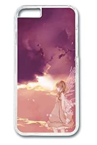 Anime Angel Girl 2 Cute Hard Cover For iPhone 6 Plus Case ( 5.5 inch ) PC Transparent Cases