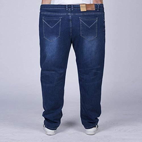In Uomo Jeans Bolawoo Denim Dritti Da Oversize Stretch Traspiranti Marca Mode Pantaloni Blau Casuali Lunghi Di UOXXWqdw