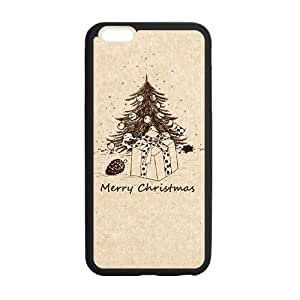 Happy Christmas Hand Drawing Christmas tree Phone Case for iPhone 6 plus 5.5""