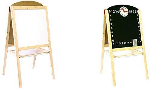 アートイーゼル 黒板 磁気ホワイトボード 時計 チョーク イレイサー マグネットマーカー