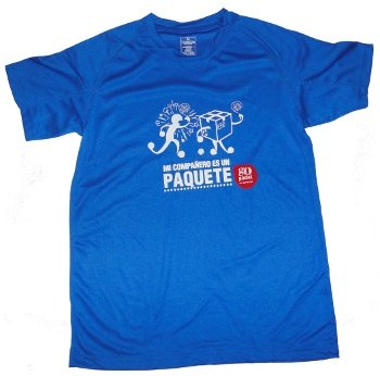 Gopadel - Camiseta pádel técnica mi compañero es un paquete, talla ...