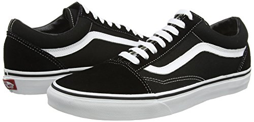 Amazon.com | Vans Old Skool Black White Canvas Leather Unisex Trainers Shoes-3 | Fashion Sneakers