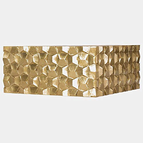 (Wood Coffee Table - Coffee Table with Foil Exterior - Gold)