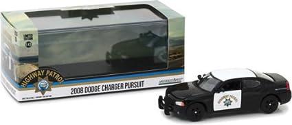 DODGE Charger Pursuit POLICE HIGHWAY PATROL 2008 modello di auto 1:43//Greenlight