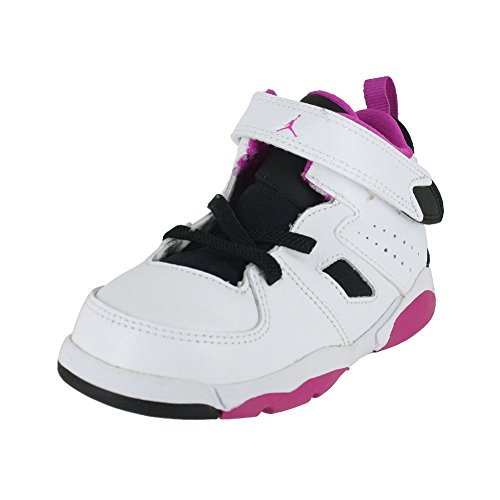 Jordan Toddler Flight Club 91 (TD) White Black Fuchsia Blast Size 9 by Jordan