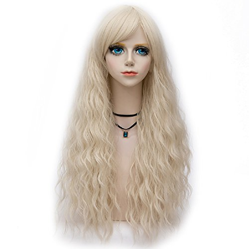 Probeauty Dance Throne Collection 75cm Lolita Long Curly Pastel Ombre Hair Synthetic Cosplay Wig+Cap (Beige F1)