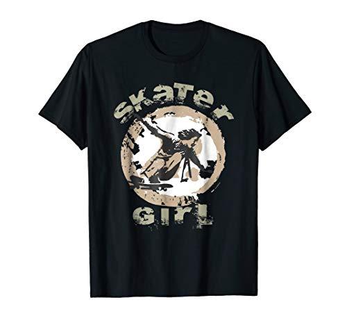 Skating Girl T-shirt - Girls can Skate Tee, Skateboarding ()