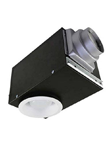 (AirZone Fans SE80RVLH Recessed Exhaust Ventilation Fan with 16W Fluorescent Light and Very Quiet Motor, Humidity Sensor, 0.9 Sones, 80 CFM)
