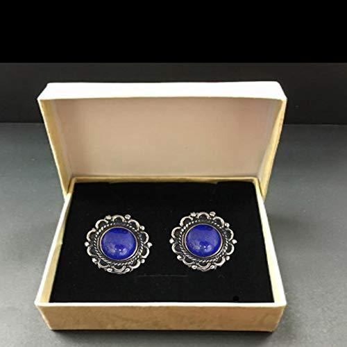 Men's Handmade Cufflinks Sterling Silver and Bold Blue Lapis Lazuli Gemstones Handmade Designer Handiwork