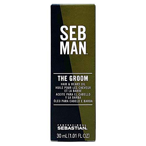 SEB MAN The Groom, Men's Hair & Beard Oil, 1 oz.