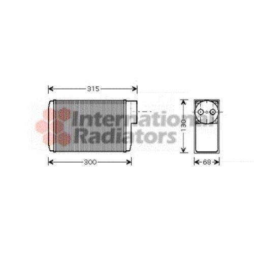 Van Wezel 76006017 Interior Heating Heat Exchanger VAN WEZEL GMBH 36_76006017