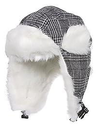 Gravity Trooper Aviator Style Hat - Black/White Plaid