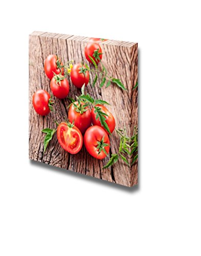 Fresh Red Tomatoes on Wooden Table Wall Decor
