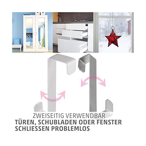 41NSYBsoJEL 4smile Türhaken zum Einhängen – 10er Set, Edelstahl – Made in Germany Kleiderhaken für die Tür – weil Ordnung halten so…