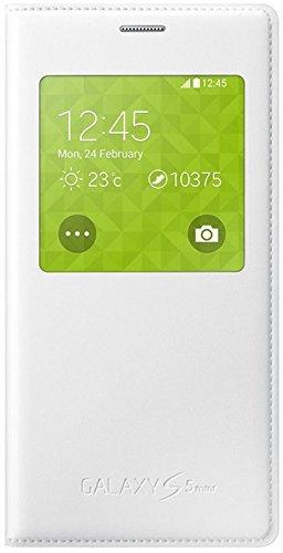 Samsung S-View Hülle Case Cover für Samsung Galaxy S5 Mini - Weiß