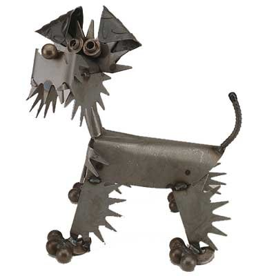 Scoots the Dog Recycled Metal Sculpture