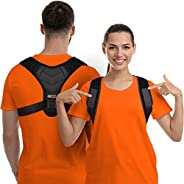 Posture Corrector for Men and Women, Upper Back Brace for Clavicle Support, Adjustable Back Straightener and P