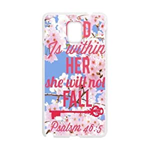 Christian Bible Verse Iphone 4/4S - God within her, she will not fail Psalsm 46:5 - Floral Pattern Pattern Iphone 4/4S (Laser Technology) Durable Back Case Shell - For Iphone 4/4S
