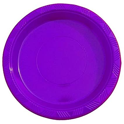 Exquisite 9 Inch. Purple plastic plates - Solid Color Disposable Plates - 50 Count  sc 1 st  Amazon.com & Amazon.com: Exquisite 9 Inch. Purple plastic plates - Solid Color ...