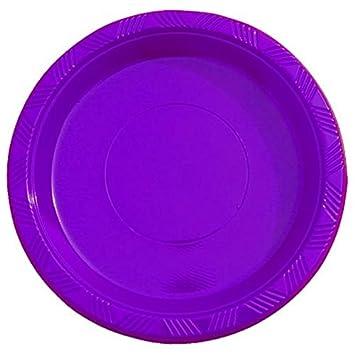 Amazon.com Exquisite 9 Inch. Purple plastic plates - Solid Color Disposable Plates - 50 Count Kitchen \u0026 Dining  sc 1 st  Amazon.com & Amazon.com: Exquisite 9 Inch. Purple plastic plates - Solid Color ...