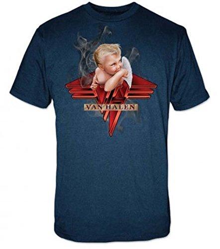Official Van Halen 1984 Album Smoking Baby T-Shirt, Large for Men
