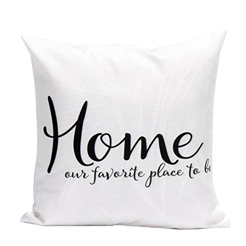 YANG-YI 2017 Letters Pillow Case Sofa Waist Throw Cushion Cover Car Home Decor (45cm45cm, (Halloween Ocean Park 2017)