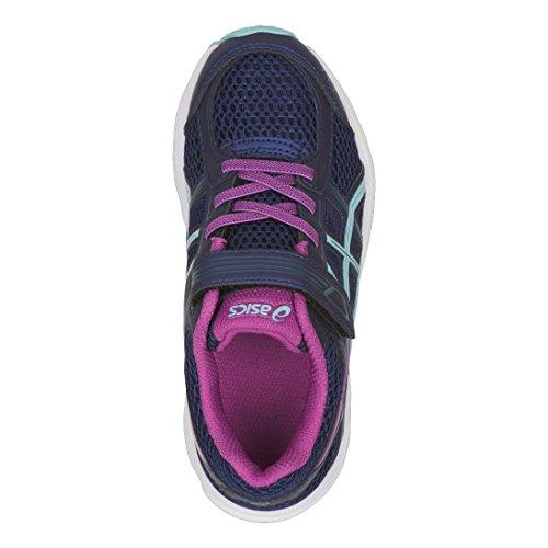 Asics Pré-enfants Soutiennent 4 Ps Chaussures De Course - Indigoblue / Porcelainblue