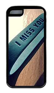 for iphone 4/4s Case I Miss You Quotes TPU Custom for iphone 4/4s Case Cover Black