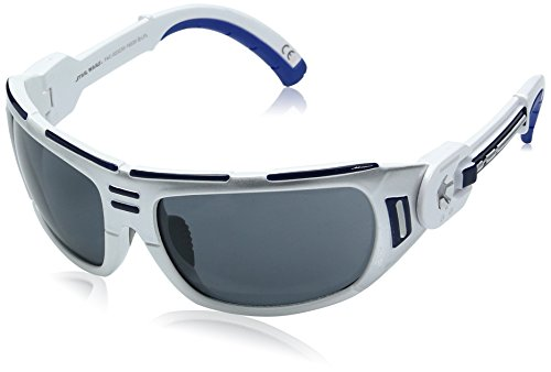 Foster Grant R2d2 Droid Star Wars Wrap Sunglasses, Shiny white with silver, 65 ()