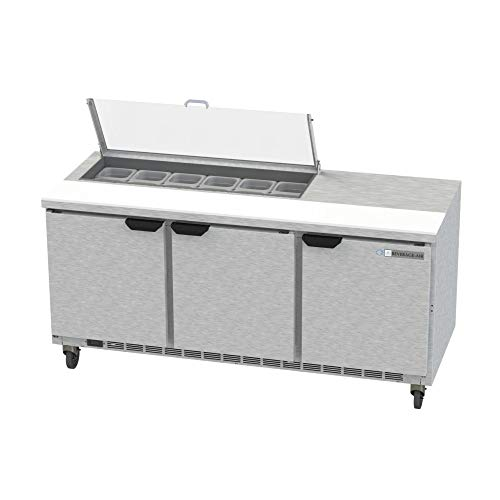 - Beverage Air SPE72HC-12-CL Elite Series Clear Lid Sandwich Top Refrigerated Counter, 72