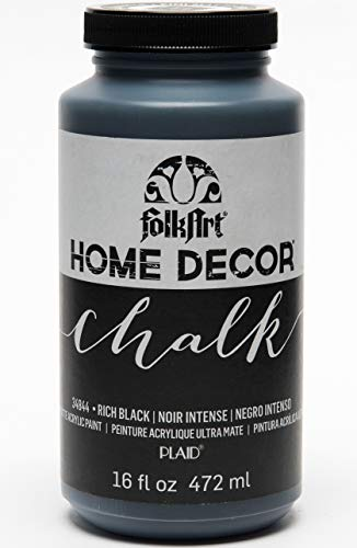 - FolkArt Home Decor Chalk Furniture & Craft Paint in Assorted Colors (16 Ounce), 34844 Rich Black