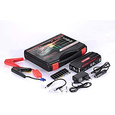 Portable Car Jump Starter, Multi-Function 12500Mah 4USB 3LED Car Starter Emergency Battery Booster with LED Lighting