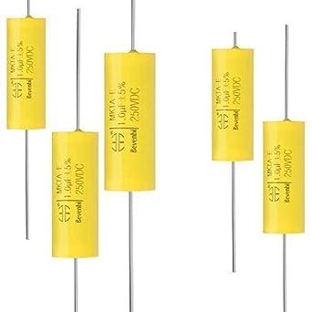 250 V ± 5/% 2.2 microfarad ECQE Pet F Serie Poliestere Condensatore a Film