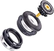 Liadance Bike Headset Bearings Concealed Bearing Set Aluminum Alloy Black for Mountain Bike 44mm