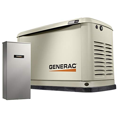 Generac 7177 Guardian 16kW Home Backup Generator with 16-Circuit Transfer Switch WiFi-Enable