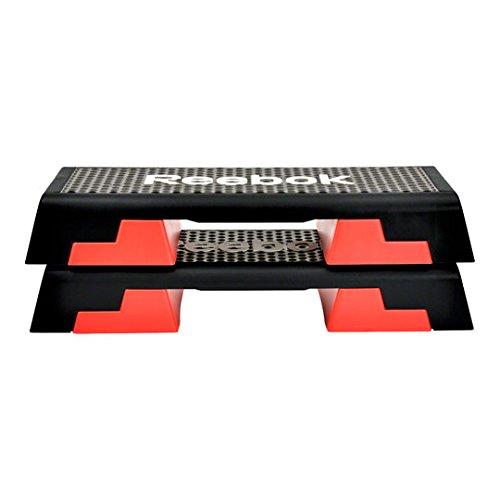 Reebok Step 95x 35x 15cm, negro / gris negro/rojo