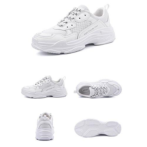 LIUXUEPIN Sommer Schuhe Koreanische Version Wild Einzelne Schuhe Neu Turnschuhe Frau Frühling Retro Neu Schuhe Alte Schuhe Weiß aec957