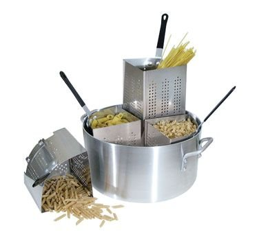 Winco Pasta Cooker - Winco APS-20 Win-Ware Pasta Cooker, 20 Qt Pot, Includes (4) Insets, Aluminum - Pasta Cookers-APS-20