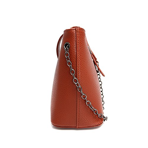 hombro bolso simple brown retro cuchara rojo moda casual de bolso Dark bolsa Nuevo UEqHdE