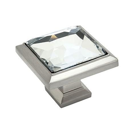Cosmas 5883SN-C Satin Nickel Cabinet Hardware Square Knob with ...